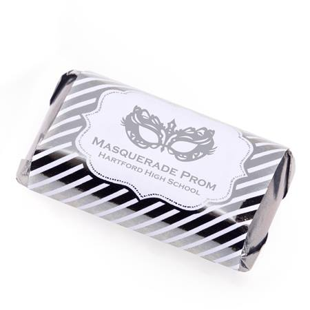 Metallic Foil Mini Candy Bar Wrappers - Silver Lines