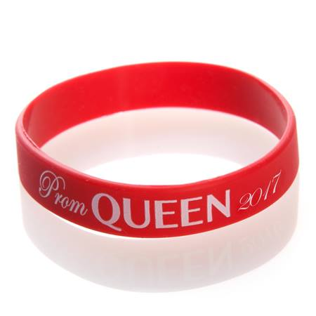 Prom Queen 2017 Wristband - Red/White