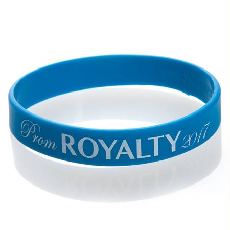Prom Royalty 2017 Wristband - Blue/White