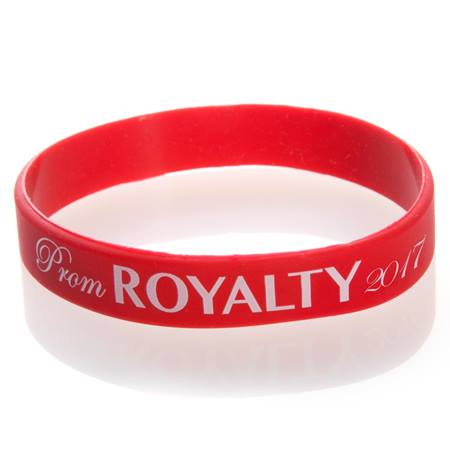 Prom Royalty 2017 Wristband - Red/White