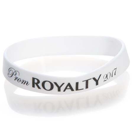 Prom Royalty 2017 Wristband - White/Black