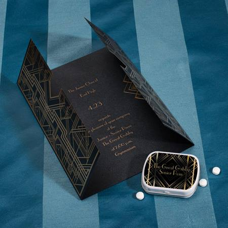 Art Deco Invite and Mint Tin Set