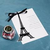 Paris Invitation and Candy Jar Set