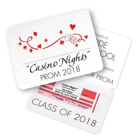 Casino Fold-over Invitation with Ticket