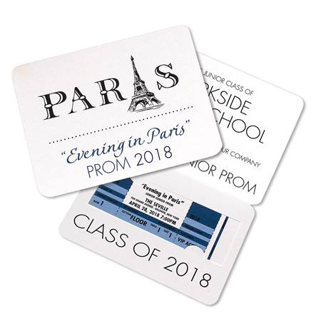 Paris Fold-over Invitation with Ticket