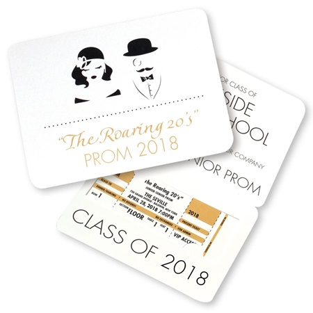 Roaring '20s Fold-over Invitation with Ticket