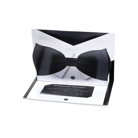 Bow Tie Pop-up Invitation