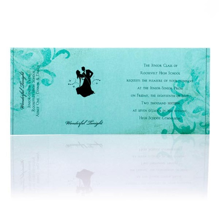 Teal/Black Sleeve Invitation