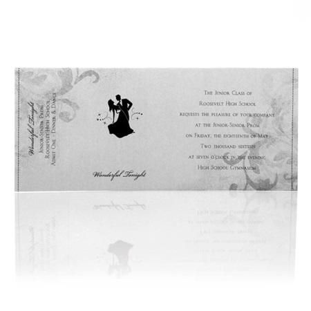 Silver/Black Sleeve Invitation