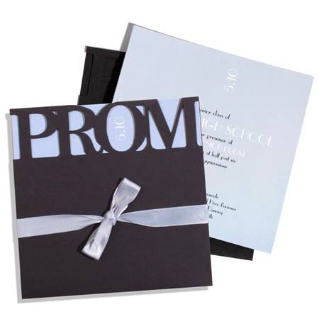 Silver Prom Perfection Invitation