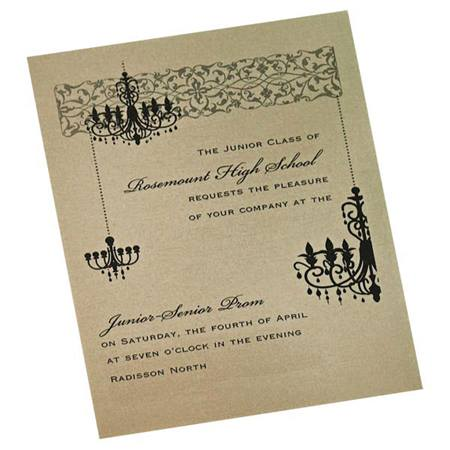 Charming Chandelier Invitation