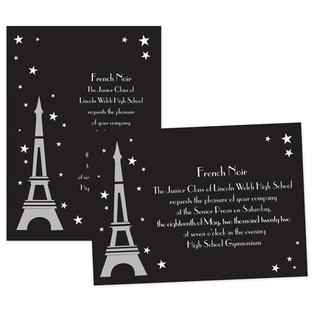 paris under the stars 5x7 invitation anderson s