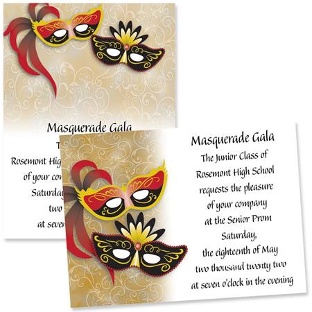 "5"" x 7"" Invitation - Unmasked"