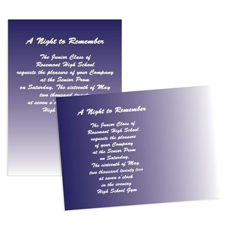 "5"" x 7"" Blue Gradient Invitation"