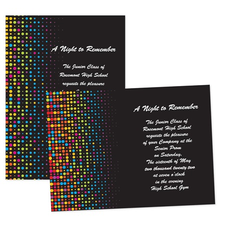 "5"" x 7"" Neon Dots Invitation"