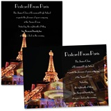 "5"" x 7"" Invitation - Paris at Night"