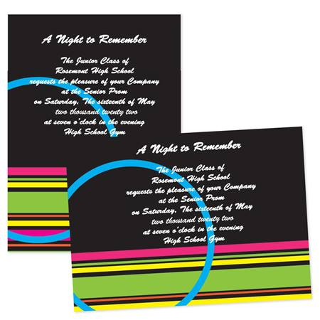 "5"" x 7"" Circle and Stripes Invitation"