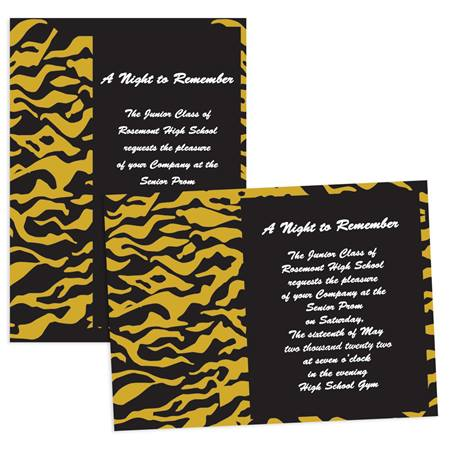 "5"" x 7"" Invitation - Tiger Stripes"