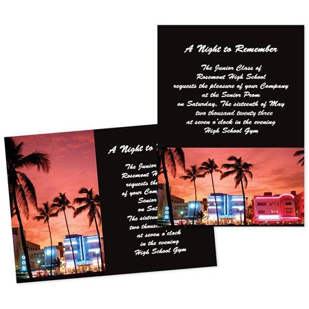 "5"" x 7"" City Sunset Invitation"