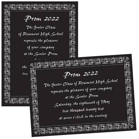 "5"" x 7"" Fancy Swirl Border Invitation"