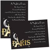 "5"" x 7"" Invitation - Moon Over Paris"