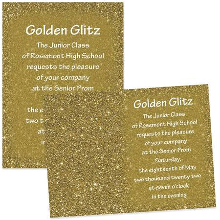 "5"" x 7"" Invitation - Gold Dust"