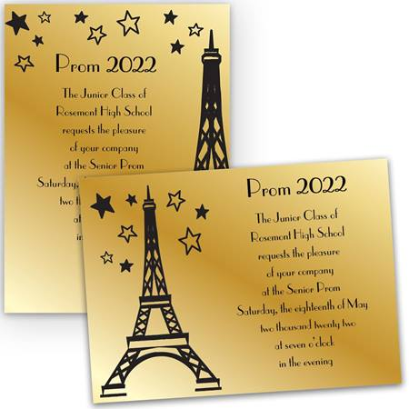 Paris Starlight 5x7 Invitation