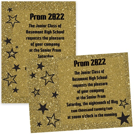Sparkle Stars 5x7 Invitation