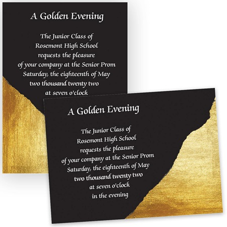 Gold and Black 5x7 Invitation