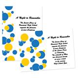 "Blue and Gold Bubbles 4"" x 6"" Invitation"