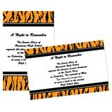 "Tiger Print 4"" x 6"" Invitation"