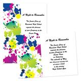 "Color Splash 4"" x 6"" Invitation"