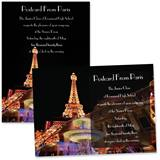 "Paris at Night 4"" x 6"" Invitation"