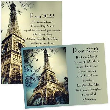 Eiffel Tower 4 x 6 Invitations