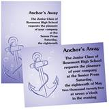 "Anchor 4"" x 6"" Invitation"