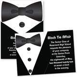 Formal Tuxedo 4x6 Invitations