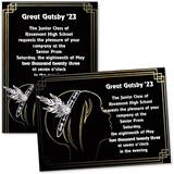 Flapper Girl 4x6 Invitations