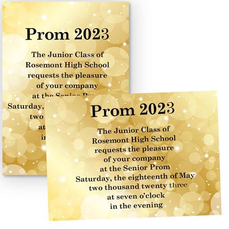 Gold Bubbles 4x6 Invitations