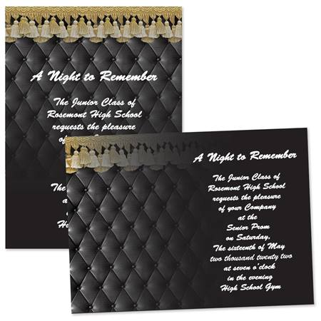 Leather Look 4x6 Invitations