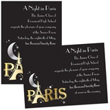 Moon Over Paris 4x6 Invitations