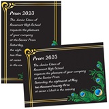Peacock 4x6 Invitations