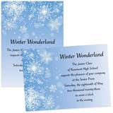 Snowflakes 4x6 Invitations