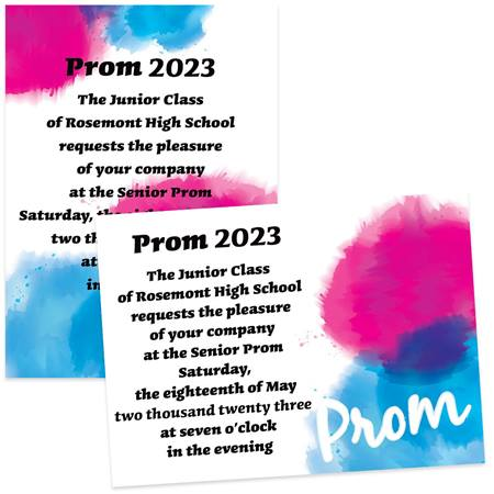 Painted Prom 4x6 Invitations