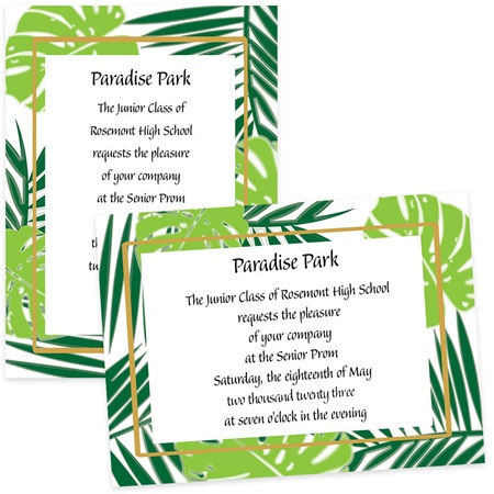 Tropical Palms 4x6 Invitations