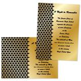 "Black Triangle Deco 4"" x 6"" Invitation"