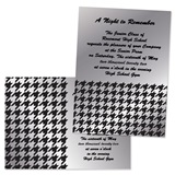"Houndstooth 4"" x 6"" Invitation"