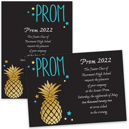 Pineapple Prom 4x6 Invitation