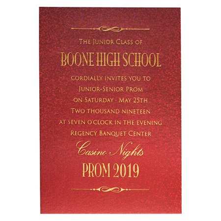Dazzle Prom Invitation - Ruby Red