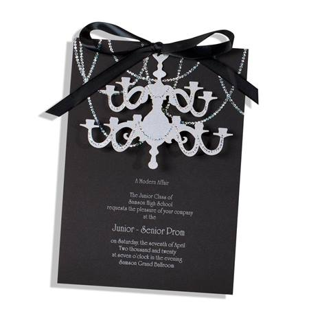 Chandelier Chains Invitation