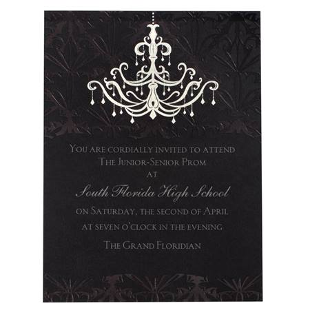 Gothic Chandelier Invitation